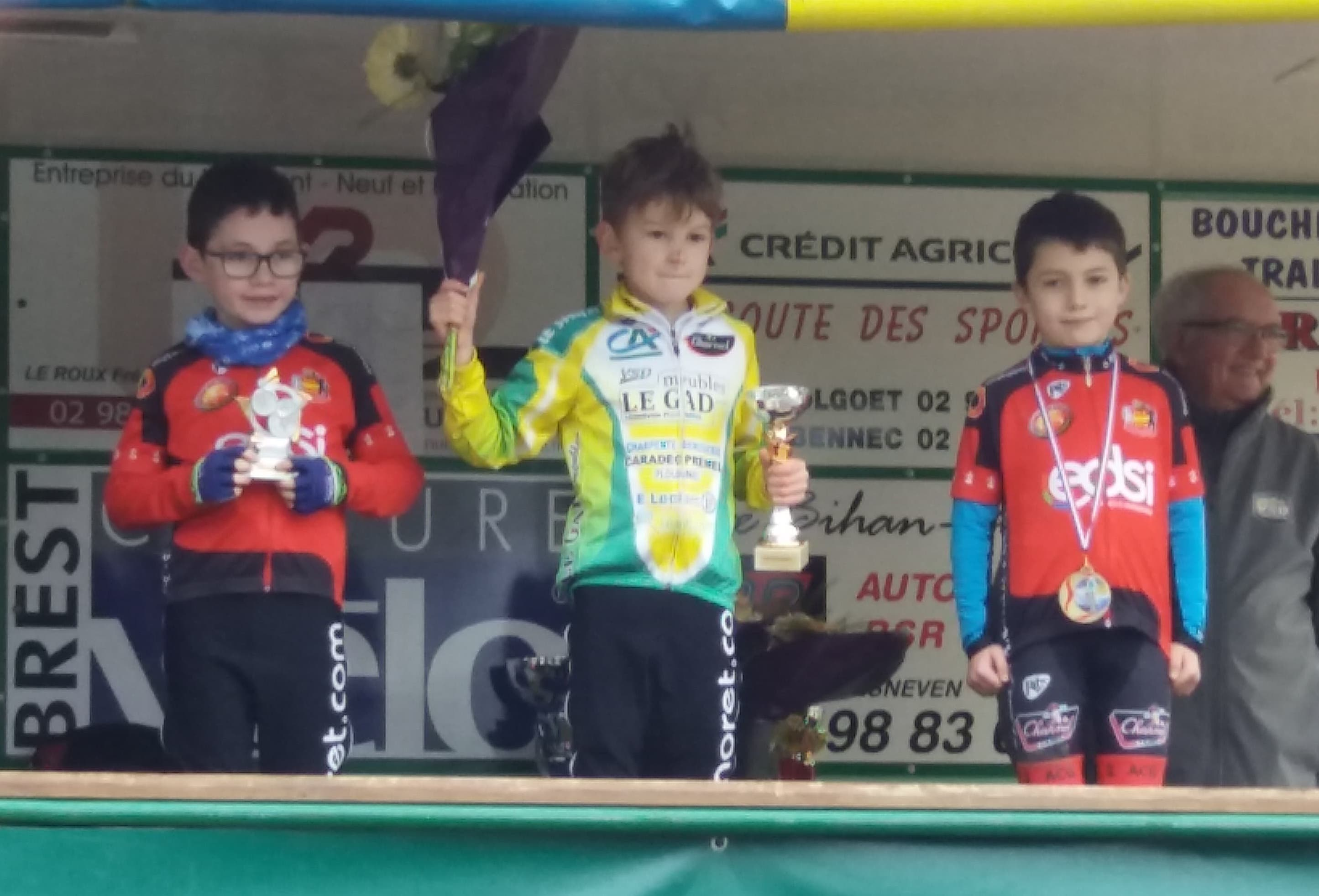 CX Drennec 2019 Podium Poussins