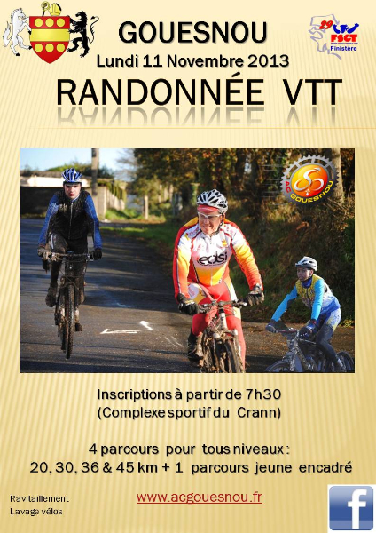 Lundi 11 nov. rado à Gouesnou rando-vtt-acg-2013