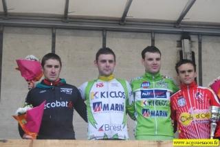 Le podium du circuit des Blés d'Or. - Gouesnou 2012